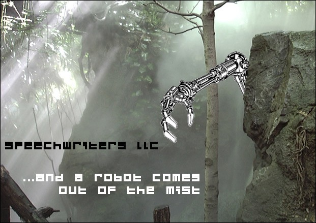 ...and a robot comes out of the mist